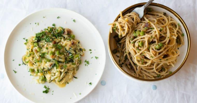 Keto Carbonara Pasta Two Ways (Low Carb, Gluten Free)