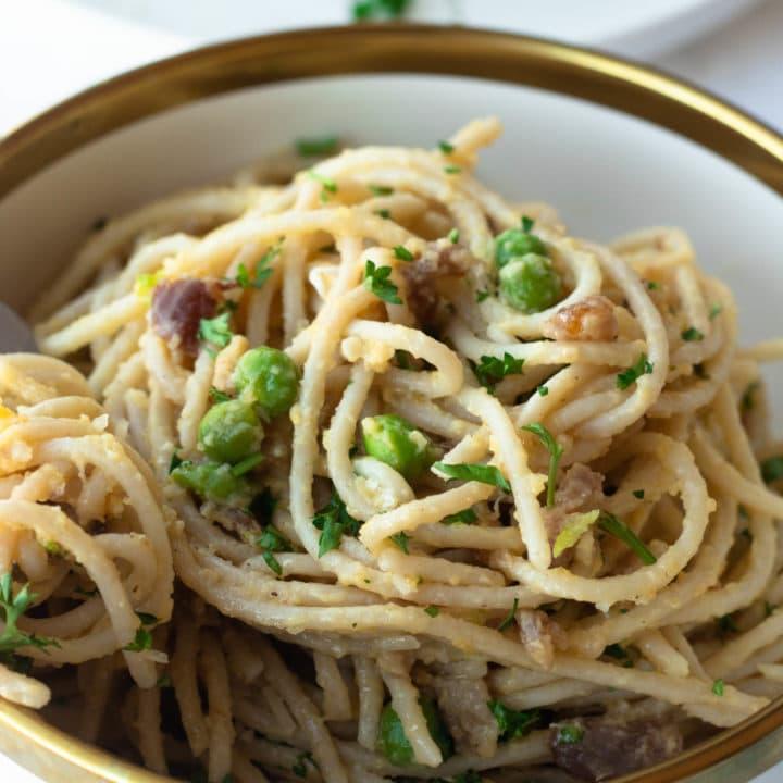 Keto Carbonara Pasta Two Ways