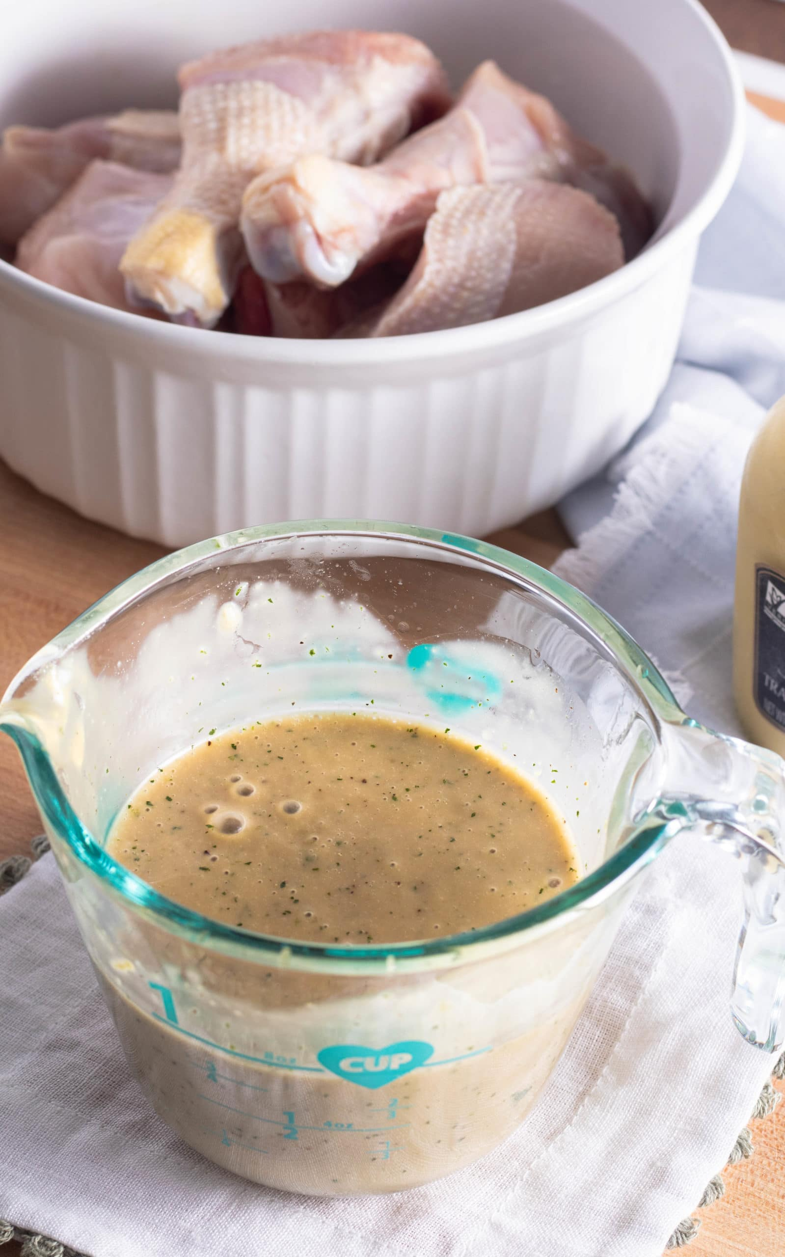 Dijon vinaigrette marinade for chicken.
