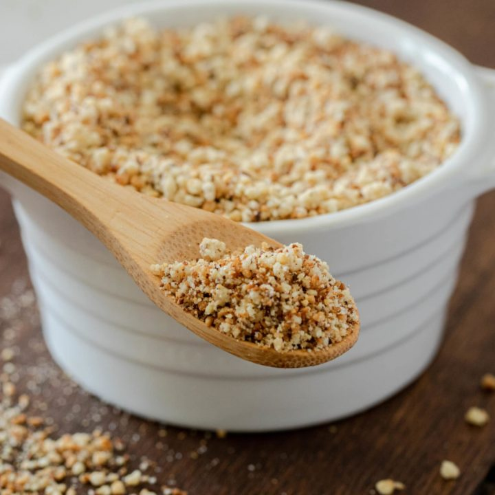 Seasoned gluten free bread crumbs for keto breading.