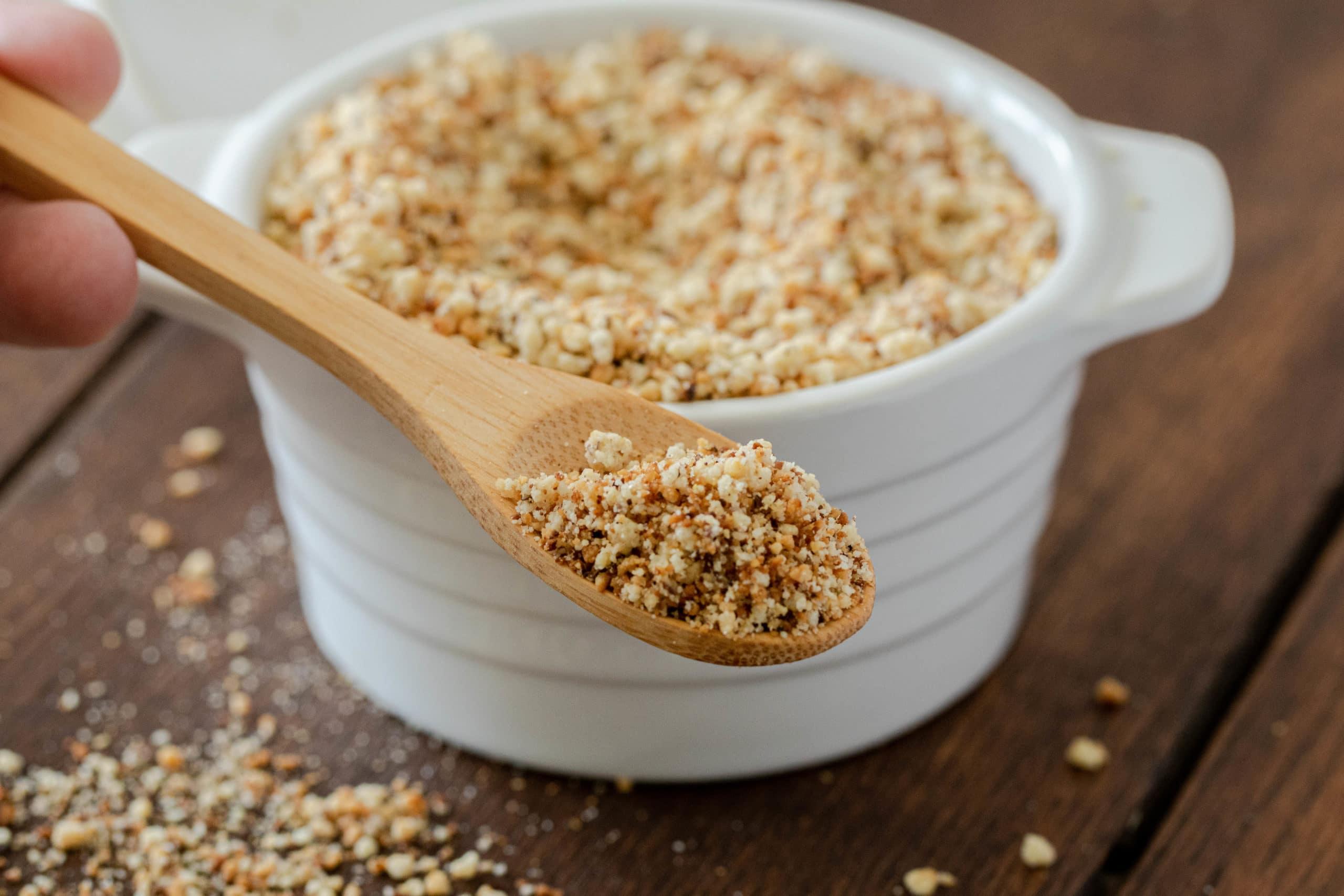 Seasoned gluten free bread crumbs for keto breading.