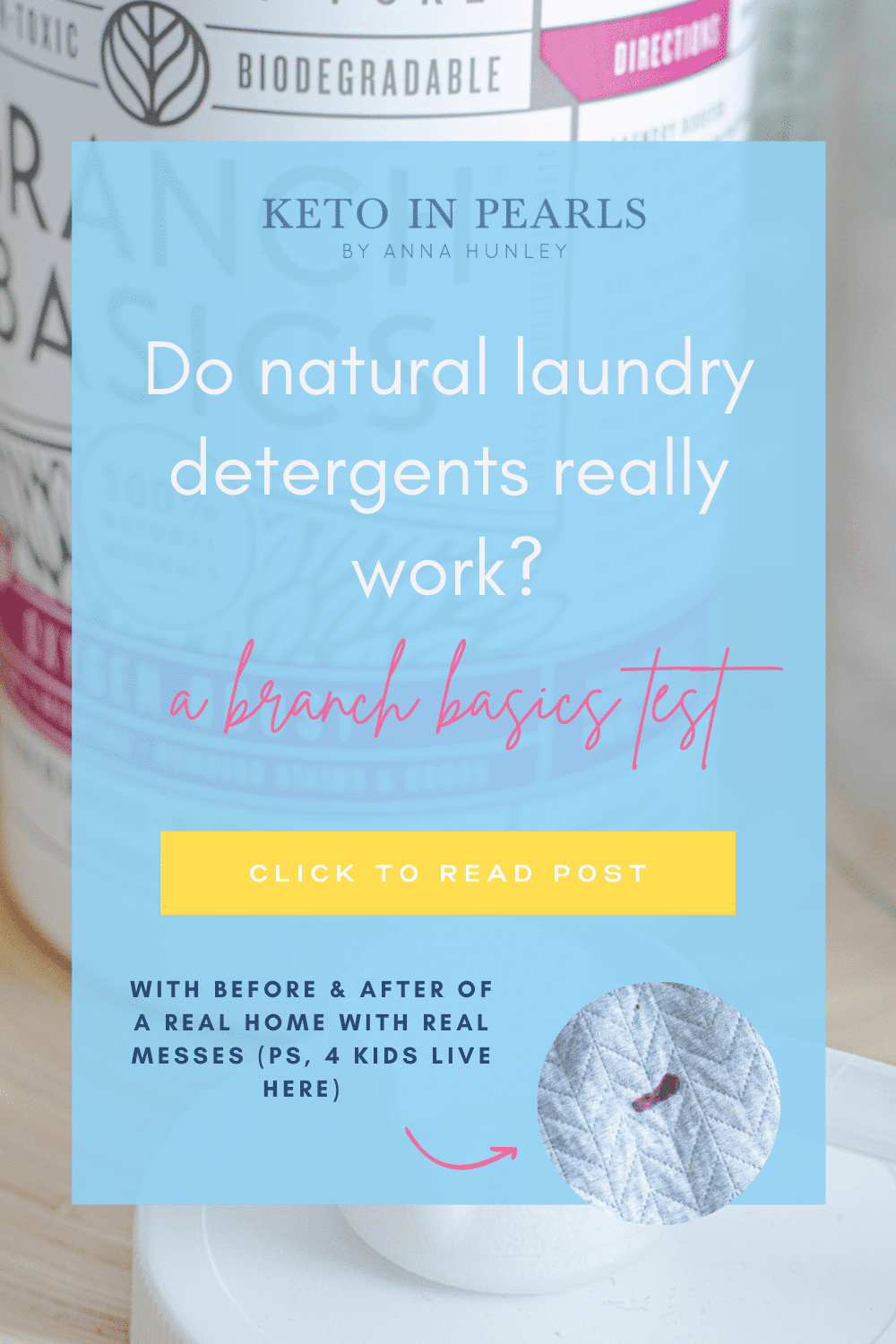 Do natural laundry detergents really work? I put branch basics natural laundry detergent to the test.