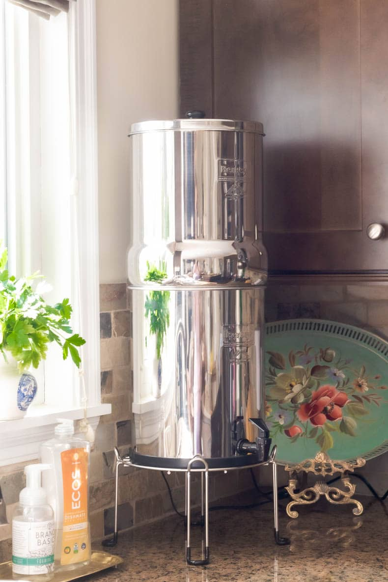 Berkey water filter removes contaminants, heavy metals, bacteria, and fluoride from water for less than the cost of bottled water.